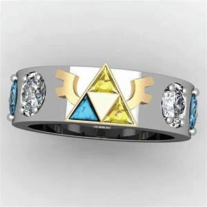 the geekiest engagement and wedding rings of our time With triforce wedding ring