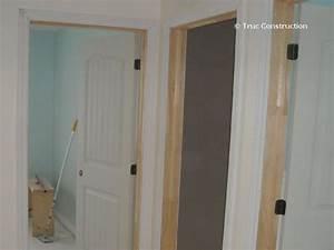 Installation thermique cadre de porte seulement for Cadre de porte en bois