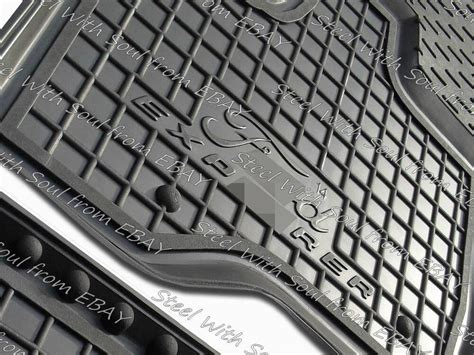 Fully Tailored Rubber / Car Floor Mats Carpet For Ford