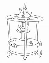 Stove Coloring Oven Drawing Pages Template Getdrawings Sketch sketch template