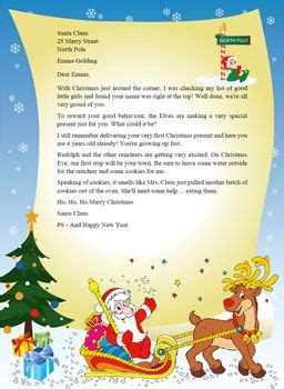 letter  santa template word santa claus stationary