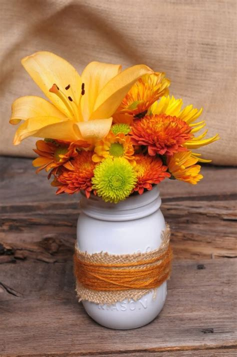 fall centerpieces with jars simple and colorful mason jar centerpieces for your home