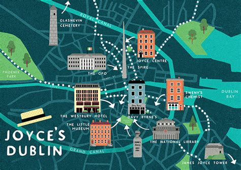 A Guide Map to The Dublin of James Joyce The Doyle