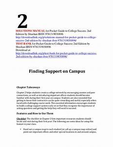 Solutions Manual For Pocket Guide To College Success 2nd