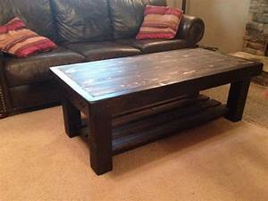 diy rustic coffee table diy pinterest With homemade rustic coffee table