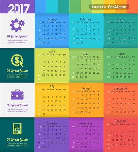 calendar template vector cdraicom