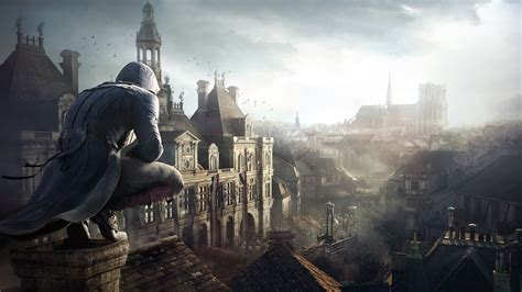 full hd wallpaper assassins creed arno dorian paris aerial