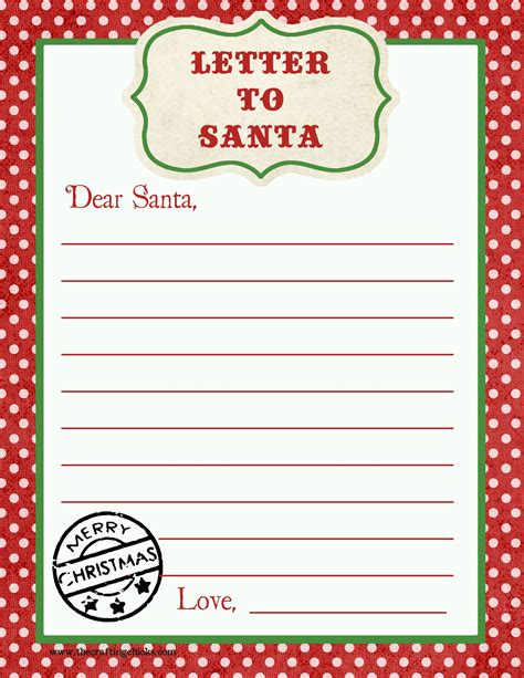letter  santa  printable   printable