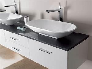 meuble vasque a poser With salle de bain design avec pose vasque sur meuble