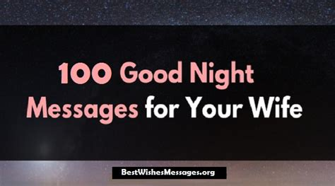 cute good night text messages wishes quotes  wife