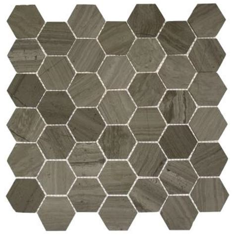Home Depot Hexagon Marble Tile by Splashback Tile Hexagon Wooden Beige 12 In X 12 In X 8