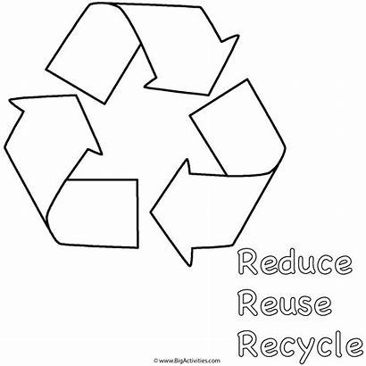Coloring Recycle Earth Reduce Reuse Pages Symbol