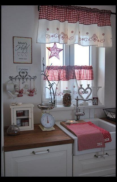 red kitchen curtains ideas  pinterest farmhouse style kitchen curtains kitchen