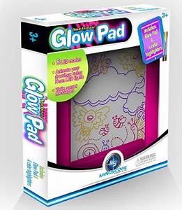 Mindscope Light Up LED GLOW PAD Animator with Glow Markers