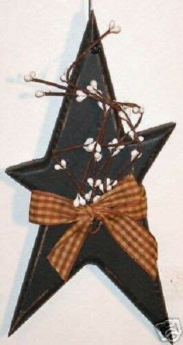 Primitive Rustic Star W Pip Berry Country Home Decor