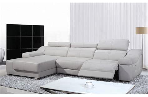 canap 233 d angle relax en cuir de buffle italien de luxe 5 places birelax blanc angle