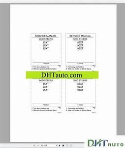 Case Skid Steer Service  U0026 Parts Manual
