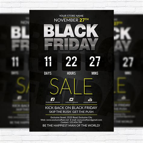 black frigay template best black friday deal premium flyer template