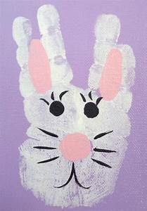 Hand Easter Bunny Kid's Craft