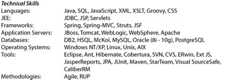 how to write a technical resume object partners