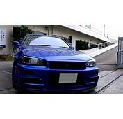 Beautiful Bayside Blue R34 Skyline GT R V Spec II N&252r HD