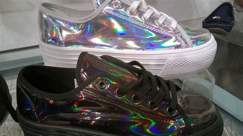 Black And Silver Holographic Shoes Found In Schuh