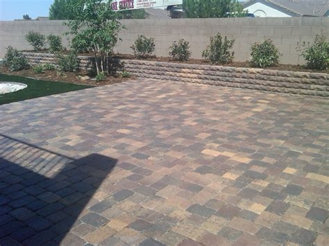 paver patio design before and after garcia landscaping