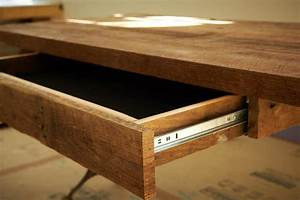 How to Build a Reclaimed Wood Office Desk how-tos DIY