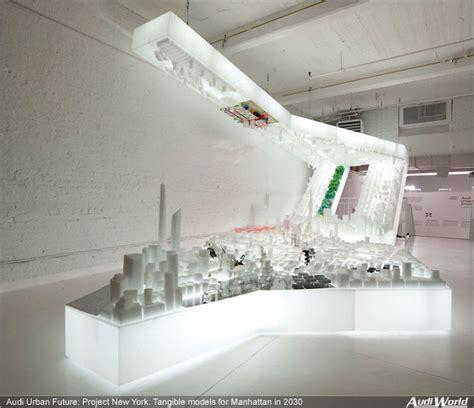 audi urban future project  york tangible models