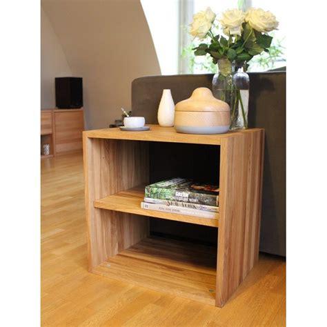 house de canapé cube de rangement avec étagère en bois de chêne massif huilé