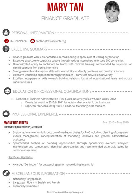 Singapore Resume by Things A Fresh Grad In Singapore Should Write His Resume
