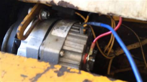 alternator wiring idiot light diesel tractor youtube
