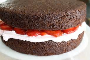 Chocolate Cake with Strawberry Filling