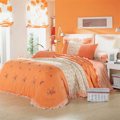 pale pink comforter set get cheap orange bedding aliexpress com