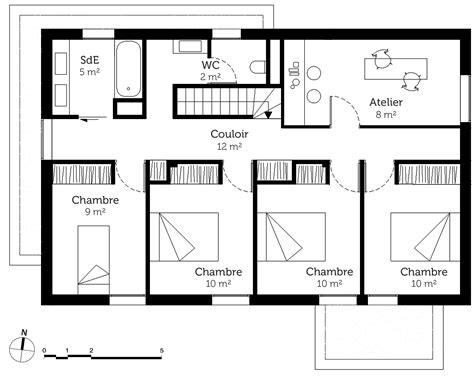 plan maison etage 2 chambres plan maison gratuit etage 5 chambres