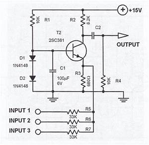 3 channel audio mixer circuit With mixer audio circuit
