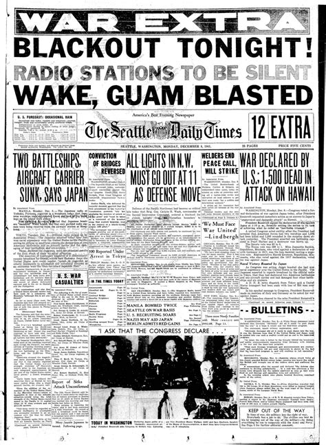 happened  seattle   pearl harbor attack    seattle times