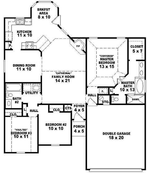 3 bedroom house plans one 3 bedroom one house plans photos and