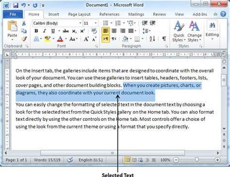 Copy & Paste In Word 2010