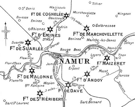 position siege siege of namur 1914
