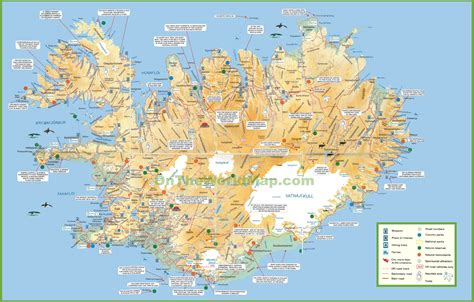 printable road map  iceland  travel information