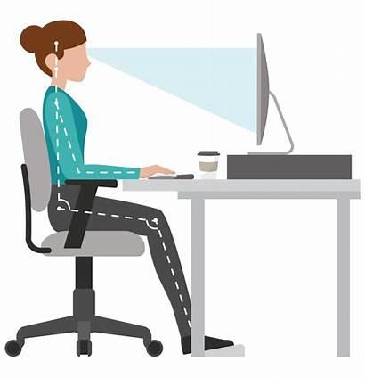 Desk Ergonomic Ergonomics Workstation Office Sitting Posture