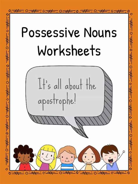 possessive nouns worksheets  teaching resources