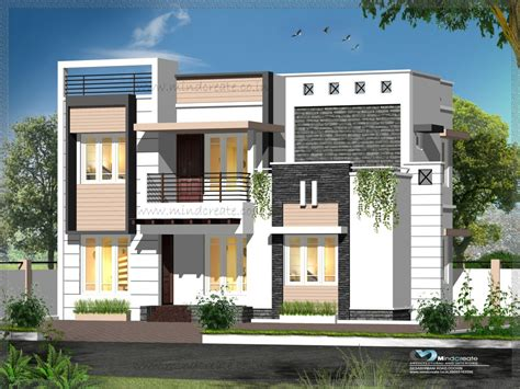traditional 1 duplex wall contemporary style house elevation kerala model home plans