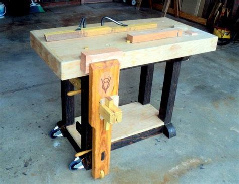 portable workbench ideas  pinterest miter