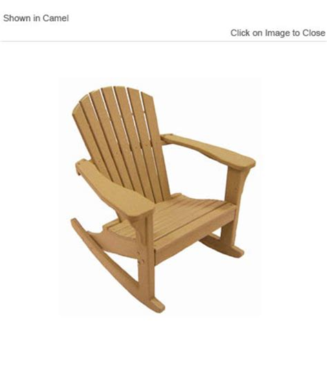 Trex Adirondack Rocking Chairs by Outdoor Poly Furniture Choice Furniture Ofcr