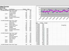Meal Tracker Template My Excel Templates