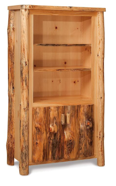 Log Bookcase by Rustic Log Bookcase From Dutchcrafters Amish Furniture