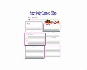 Daily lesson plan template 12 free sample example for Daily lesson plan template for kindergarten