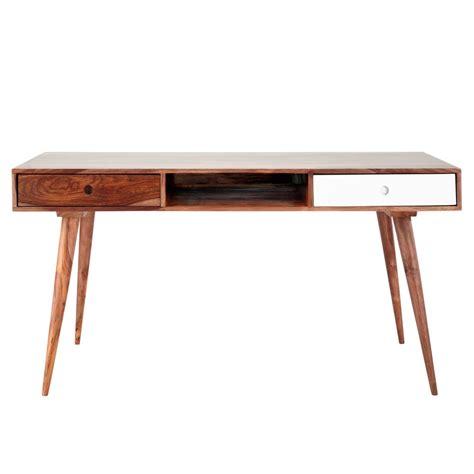 bureau vintage en bois de sheesham massif l 150 cm